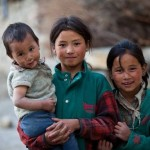 Children from a village in Himachal