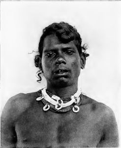 Kadir with chipped teeth - Annamalai Hills, Madras