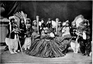 Maharani of Nepal, with attendants