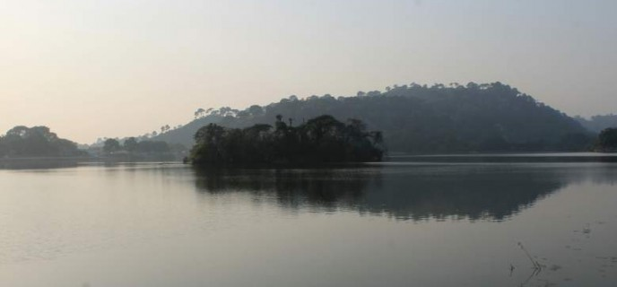 Surinsar Lake with it's island