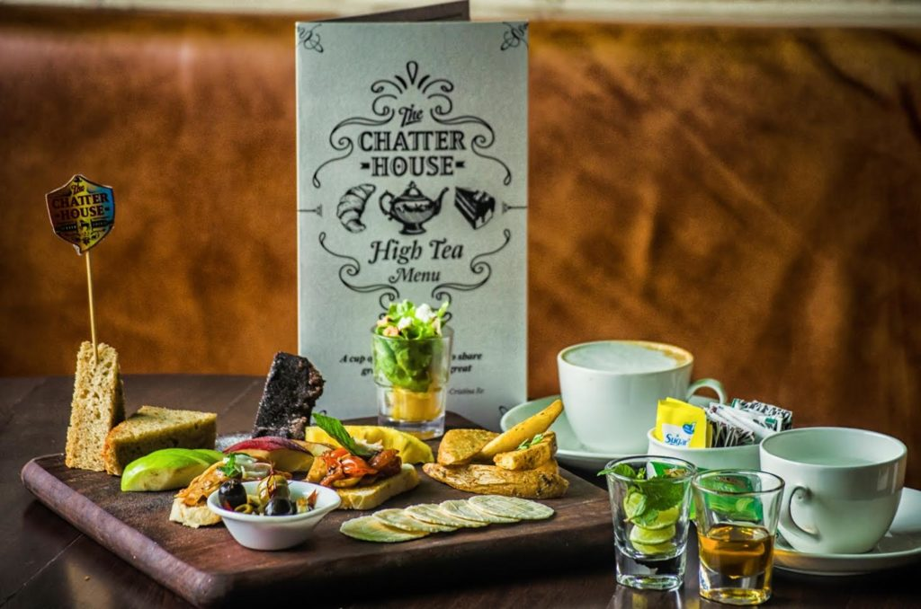High Tea special menu by The Chatter House