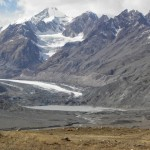 View of glacier from distance