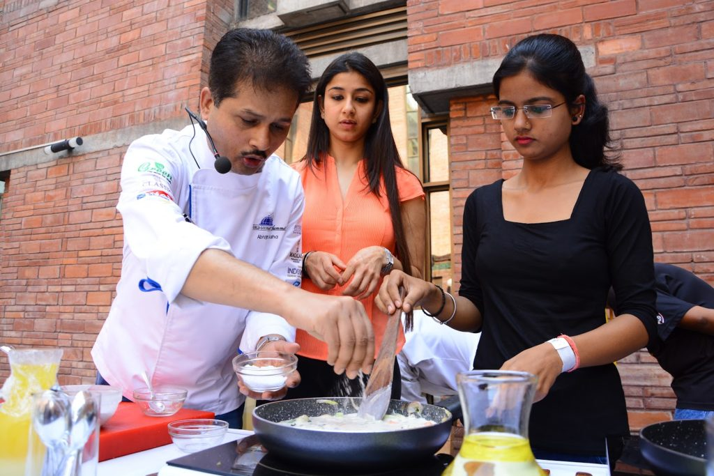 Chef is showcasing their skills at food for thoght fest